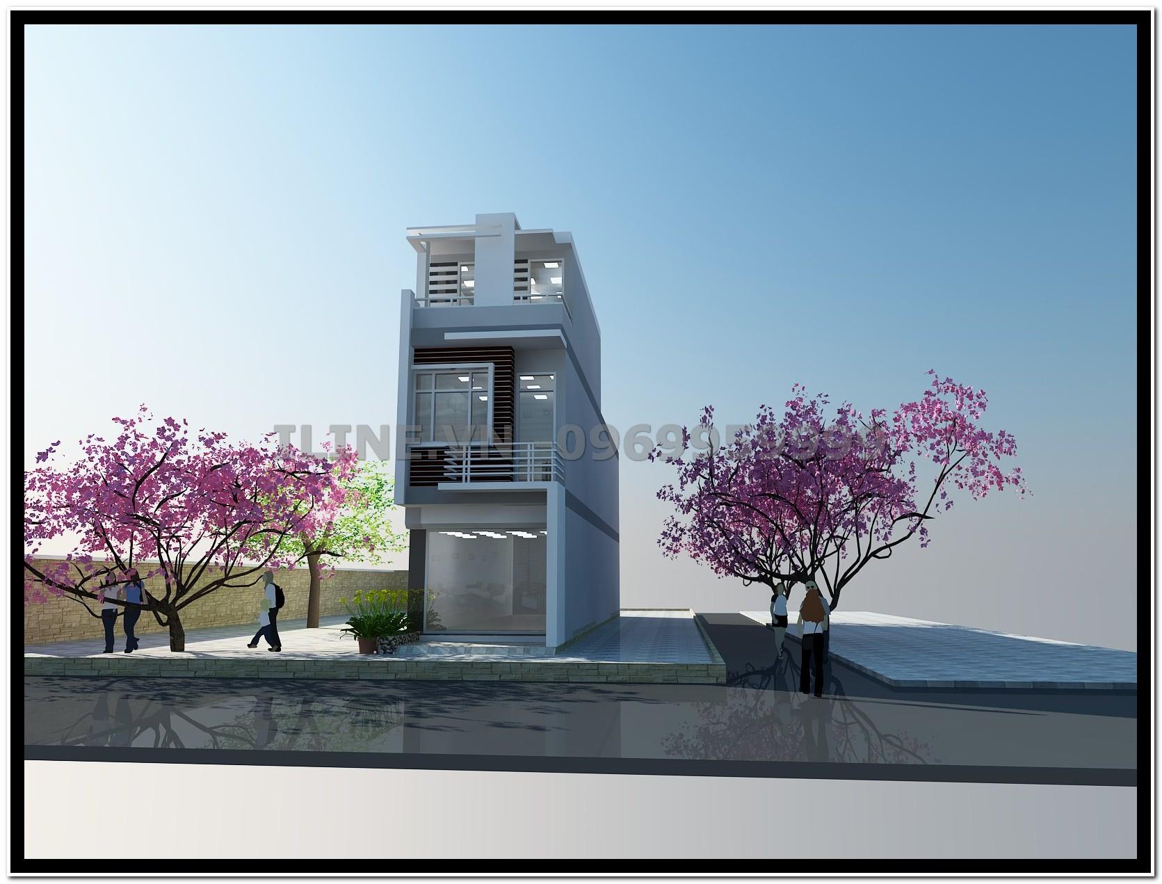 Nhà phố Anh Sơn xây dựng theo phong cách hiện đại!