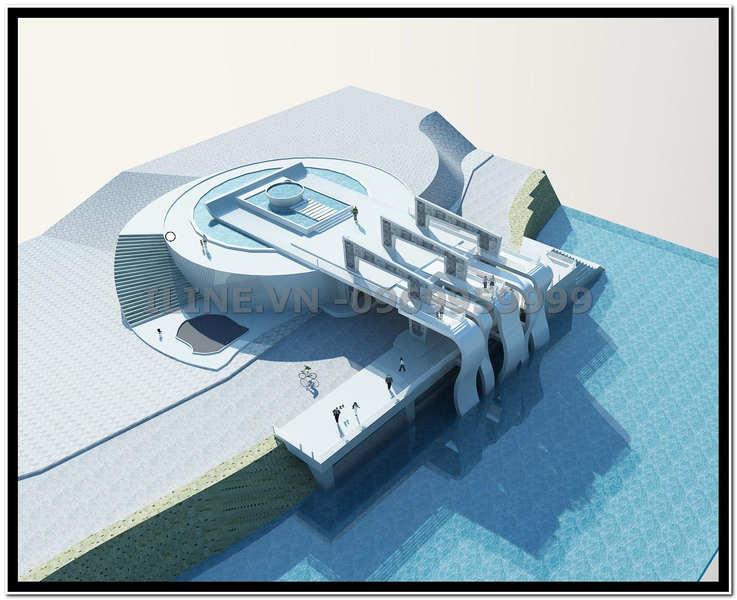 Nhà Chờ bến cảng - Khu du lịch Ngọc Long - Quảng Ninh - 2011